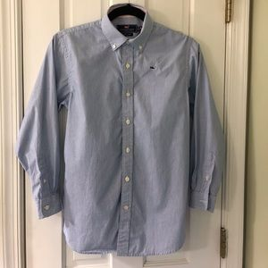 Vineyard Vines Gingham whale boys button down M
